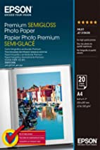 Epson A4 Semi-Gloss Photo Paper (Pack of 20) - white
