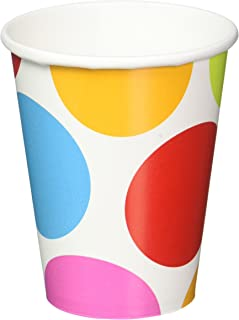 Amscan International Paper Cups Cabana Dot, Multi-Colour, Pack Of 8, 266 ml