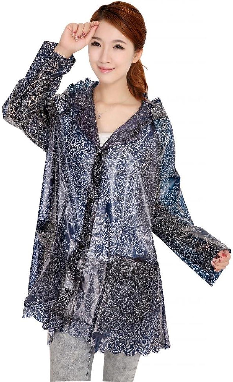 Yuding Women's Lace Waterproof TPU Raincoat