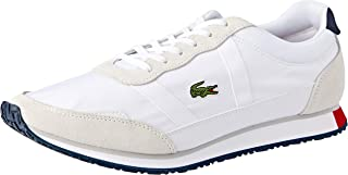 Lacoste Men's Partner 119 1 Fashion Shoes, WHT/NVY/RED