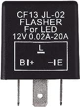Justech 3-Pin DC 12V LED Relé Intermitente Indicador Relé Moto Indicador de Señal de Giro Controlador de Velocidad