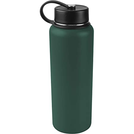 Dark Green Tahoe Trails 40 oz Double Wall Vacuum Insulated Stainless Steel Water Bottle