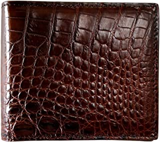 Men's Genuine Crocodile and Ostrich Skin Wallet by CHERRY CHICK (Birthday Ideal & Graduation Gift)