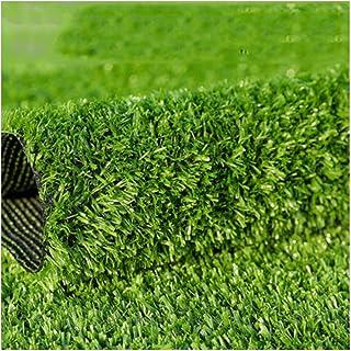 YNFNGX Artificial Grass Fake Lawn 15mm Pile High Synthetic Grass Carpet Green Door Mat Balcony Terrace Decoration 2x1m (Si...