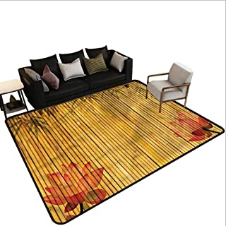 Bamboo,Anti-Slip Coffee Table Floor Mats 60