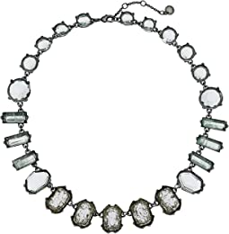 Stone Collar Necklace 17""
