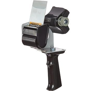 "Tartan Pistol Grip Box Sealing Tape Dispenser HB903, Black, 2"""