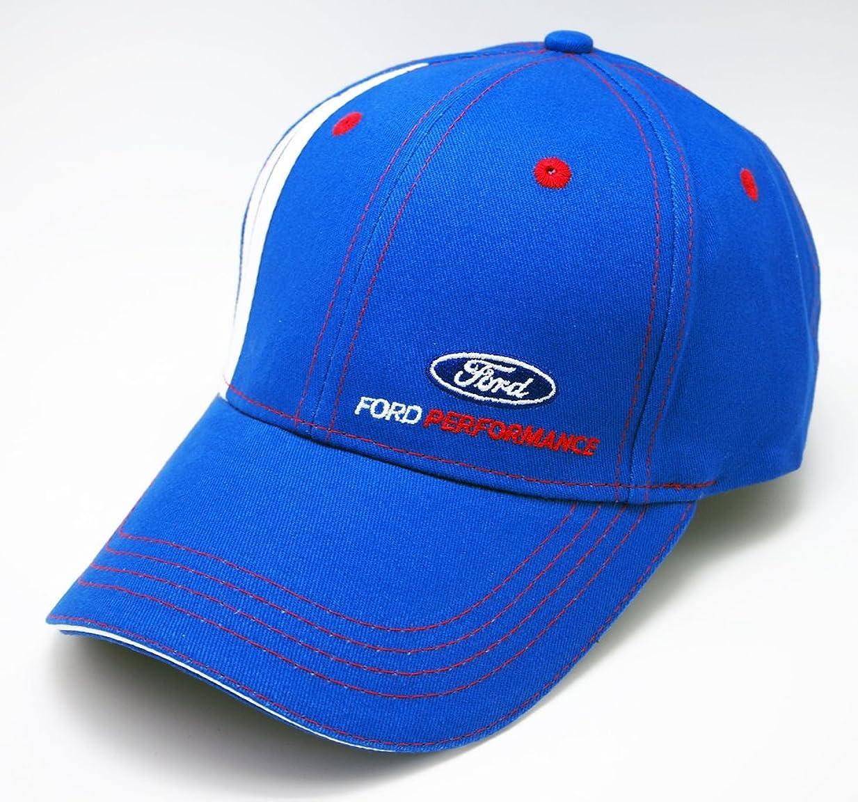 引き金ほとんどの場合管理する【 FORD 】 フォード WRC Racing Team モータースポーツ パフォーマンス CAP ブルー
