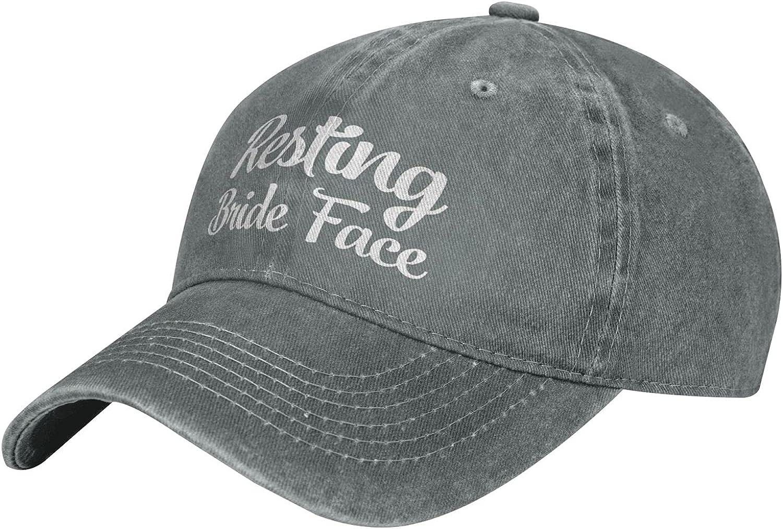 Cellova Resting Bride Face Hats,Unisex Baseball Cap Adjustable Outdoor Mesh Cap Trucker Hats