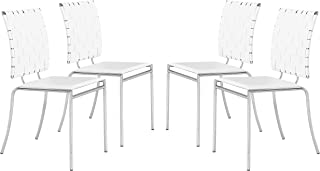 Zuo Criss Cross Dining Chair (Set of 4), White