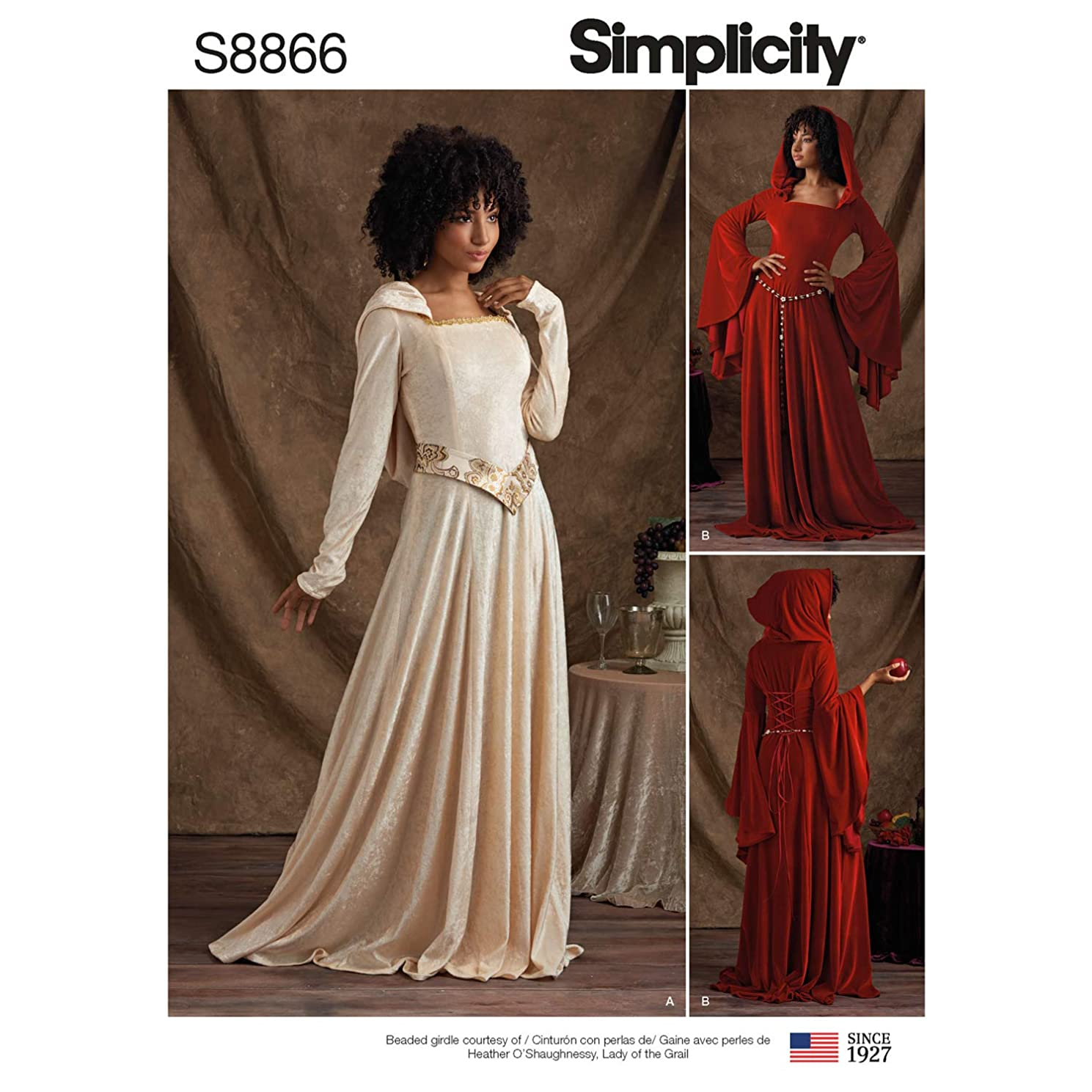 Simplicity US8866H5 Pattern S8866 Miss Petite Knit Costumes, H5 (6-8-10-12-14)