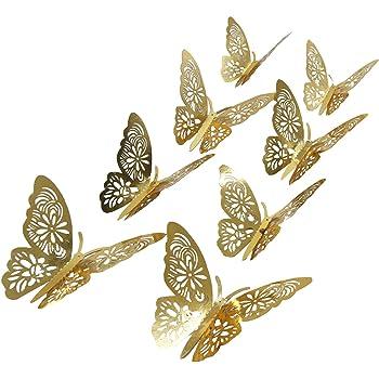 3D Calcomanía de diseño de la Mariposa Arte Decoración Hogar Decoración Habitación Pegatinas De Pared 12 un