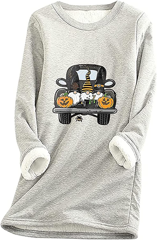 TARIENDY It is very popular Fleece Lined Pullover Max 46% OFF for Graphic Sweat Halloween Women