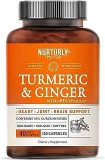 Sponsored Ad - Turmeric Curcumin with BioPerine & Ginger, Black Pepper and 95% Curcuminoids – High Absorption Turmeric Sup...