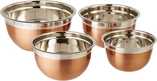 lowest ExcelSteel Copper Tone Stainless Steel Mixing Bowls sale (Set wholesale of 4) outlet sale