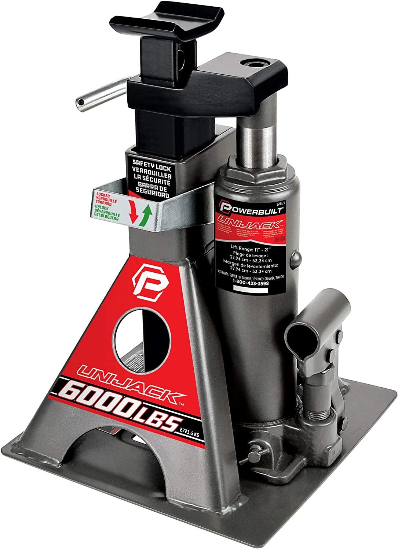 Over item handling ☆ Powerbuilt Some reservation 620471 Unijack - lb. 6000 Capacity