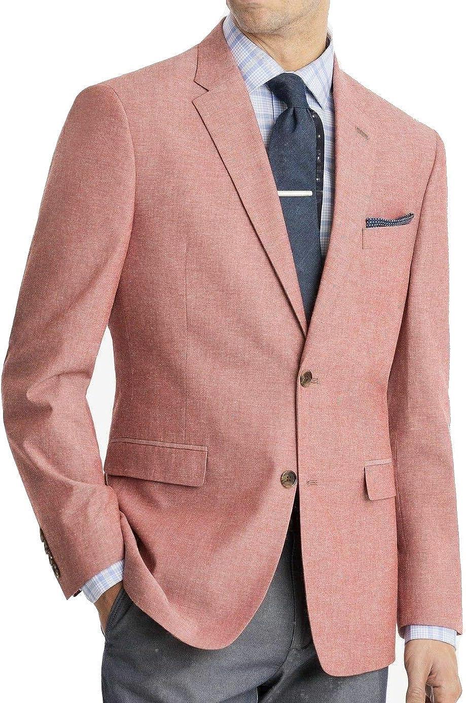 Tommy Hilfiger Men's Modern Fit Seersucker Suit Separates-Custom Jacket & Pant Size Selection