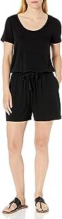 Amazon Essentials Women's Short-Sleeve Scoop-Neck Romper