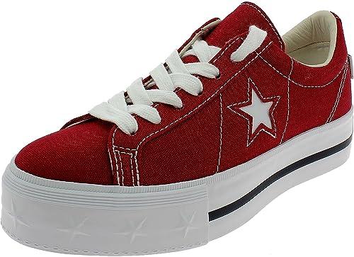 Converse One Star Platform Scarpe Sportive Donna Rosse 564032C