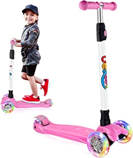 سكوتر كيك سكوتر للأطفال بثلاث عجلات من بيليف، للبنات والأولاد الصغار، 4 درجات ارتفاع قابل للتعديل، إمكانية التوجيه مع عجلا...
