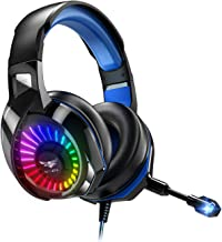 Nivava K7 Pro Gaming Headset for PS4 PC, Xbox One Headset with Noise Cancelling Microphone,...