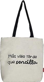 Hello-Bags, Bolso Tote, Algodón 100%, Blanco, con Cremallera, Forro y Bolsillo Interior, 37 x 38 cm + (asa: 28 cm)