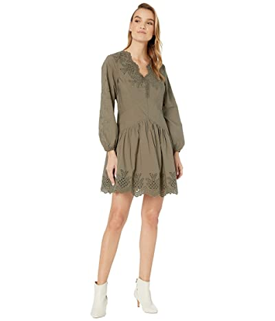 Taylor Dresses Womens Strech Crepe A Line with Jewel Neck