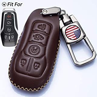 Royalfox Silver 3 4 5 Buttons TPU Smart keyless Entry Remote Key Fob case Cover Keychain for 2017 2018 2019 Lincoln Continental MKC MKZ Navigator TM
