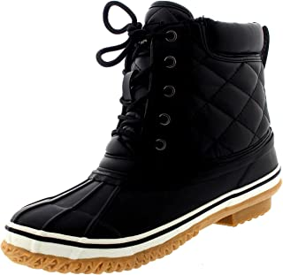 Women Thermal Winter Waterproof Quilted Mid Calf Hiking Boots