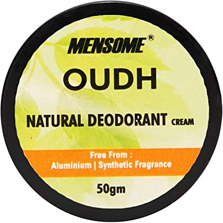 MENSOME Natural Deodrant- Aluminium, Paraben and Sulphate Free, Long Lasting Naturally Derived Deodrant For Men And Women, 50 gm
