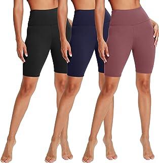 3 Pack High Waisted Biker Shorts for Women – 8
