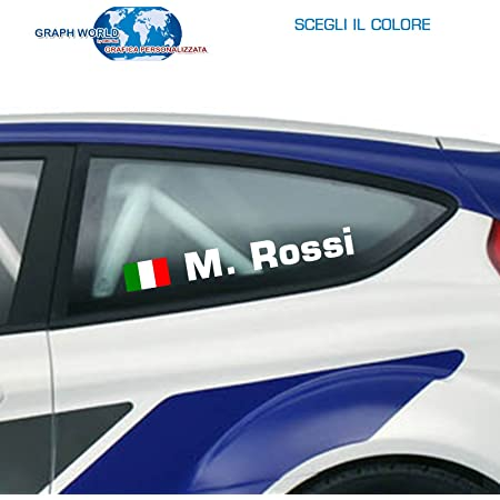 LWEDLW 4 Nomi Adesivi Nuova Generazione Sticker Nome Pilota Auto Stile Rally Tuning Auto Moto
