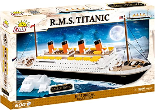 están haciendo actividades de descuento Cobi 1914- Titanic, blanco Star Line, 500 ladrillos de construccion construccion construccion  promociones