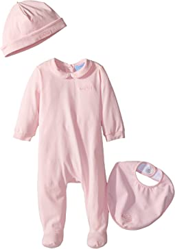 Lanvin Kids - Logo Collar Footie/Hat/Bib Gift Set (Infant)