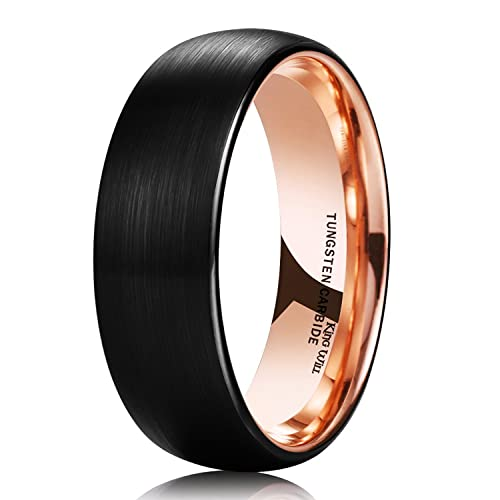 Mens Black Wedding Band Amazoncom