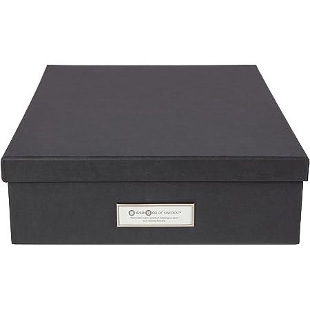 Bigso Box of Sweden 945145641 Boîte de Rangement Format A4, Panneau de Fibre, Gris Foncé, 35 x 26 x 8,5 cm