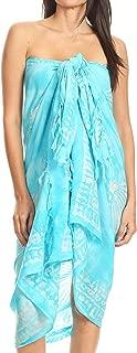 Sakkas Lygia Women's Summer Floral Print Sarong Swimsuit Cover up Beach Wrap Skirt