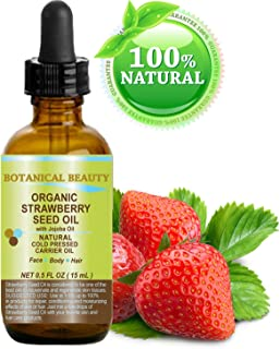 STRAWBERRY SEED OIL ORGANIC. 100% Pure Moisturizer/ Natural Cold Pressed Carrier oil. 0.5 Fl.oz.- 15 ml. For Skin, Hair, L...