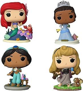 Funko Pop! Ultimate Princesses Set de 4: Aurora, Ariel, Jazmín y Tiana