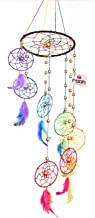 Rooh dream catcher ~ Rainbow Spiral ~ Handmade Hangings for Positivity (Can be used as Home Décor Accents, Wall Hangings, Garden, Car, Outdoor, Bedroom, Key chain, Meditation Room, Yoga Temple, Windchime)