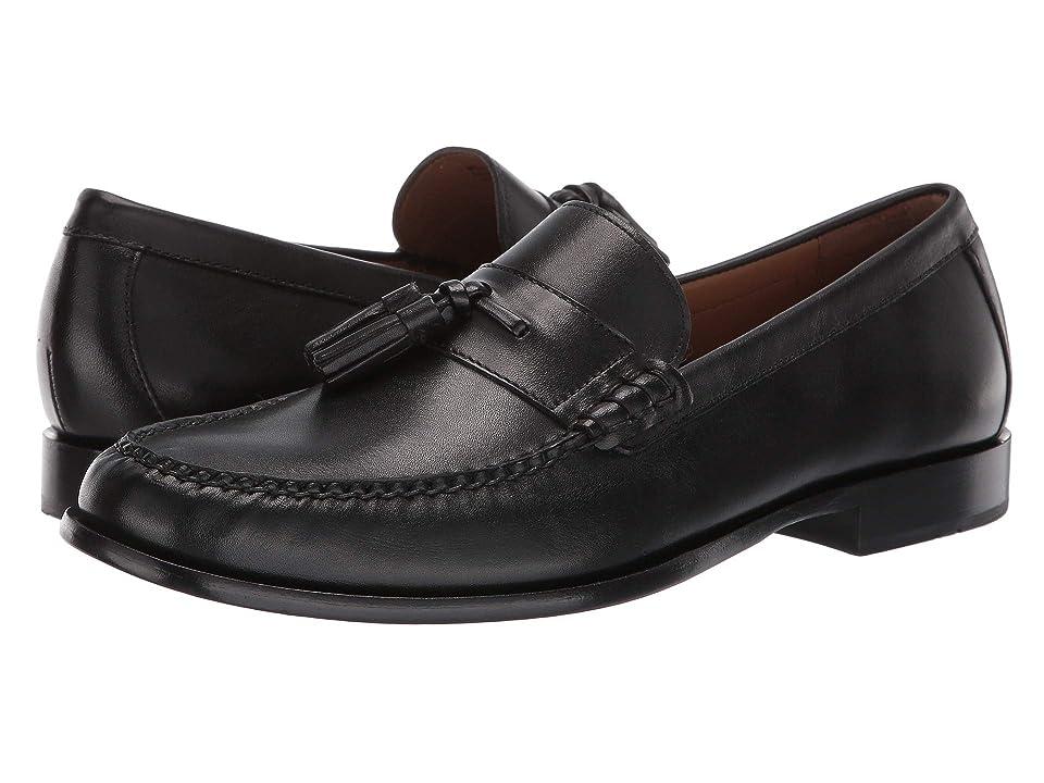 Cole Haan Pinch Handsewn Tassel Loafer (Black Handstain/Black) Men