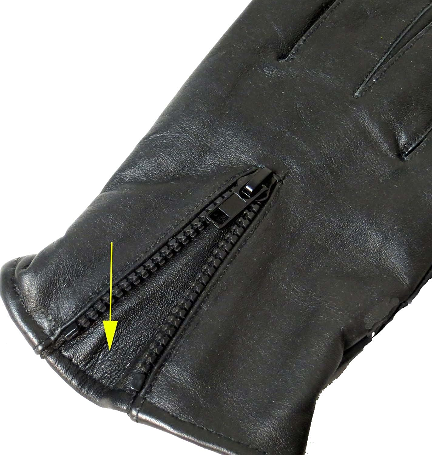 Genuine Leather Unisex Windproof Thermal Full Finger Warm Fleece Lined Driving Gloves 2140 US (Large)