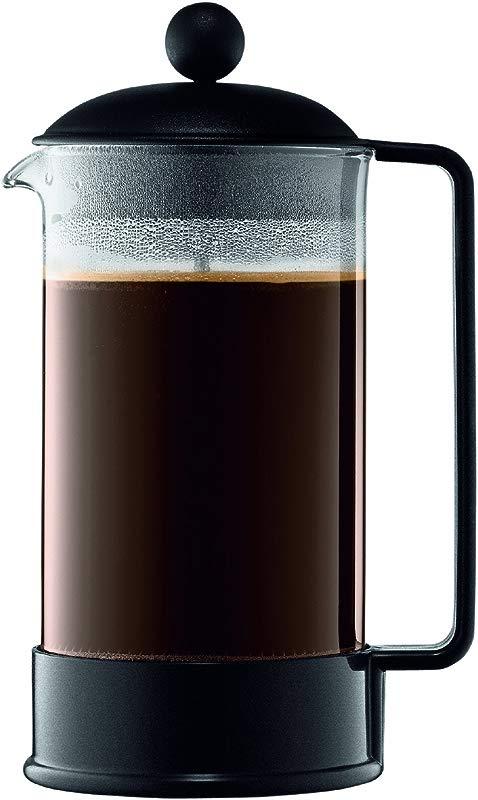 Bodum Brazil 8 Cup French Press Coffee Maker 34 Ounce Black