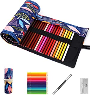 Muousco Colored Pencils for Adult Coloring Book, Premium Artist Colored Pencil Set (72-Count), Handmade Canvas Pencil Wra...