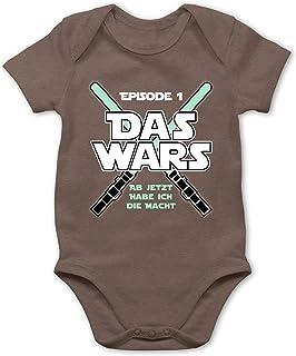 Shirtracer Zur Geburt - Das Wars Jetzt Habe ich die Macht Junge - Baby Body Kurzarm für Jungen und Mädchen