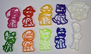PAW PATROL LOGO DOGS SKYE MARSHALL CHASE RUBBLE EVEREST ZUMA ROCKY TRACKER RYDER RESCUE PUPS SET OF 10 SPECIAL OCCASION COOKIE CUTTERS BAKING TOOL MADE IN USA PR1050