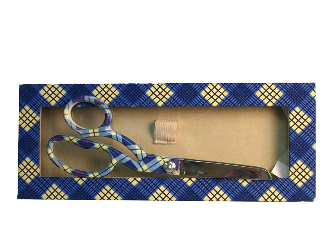 LA Linen Precision Stainless Steel Dress Scissors with Gift Box, 8-Inch, Blue