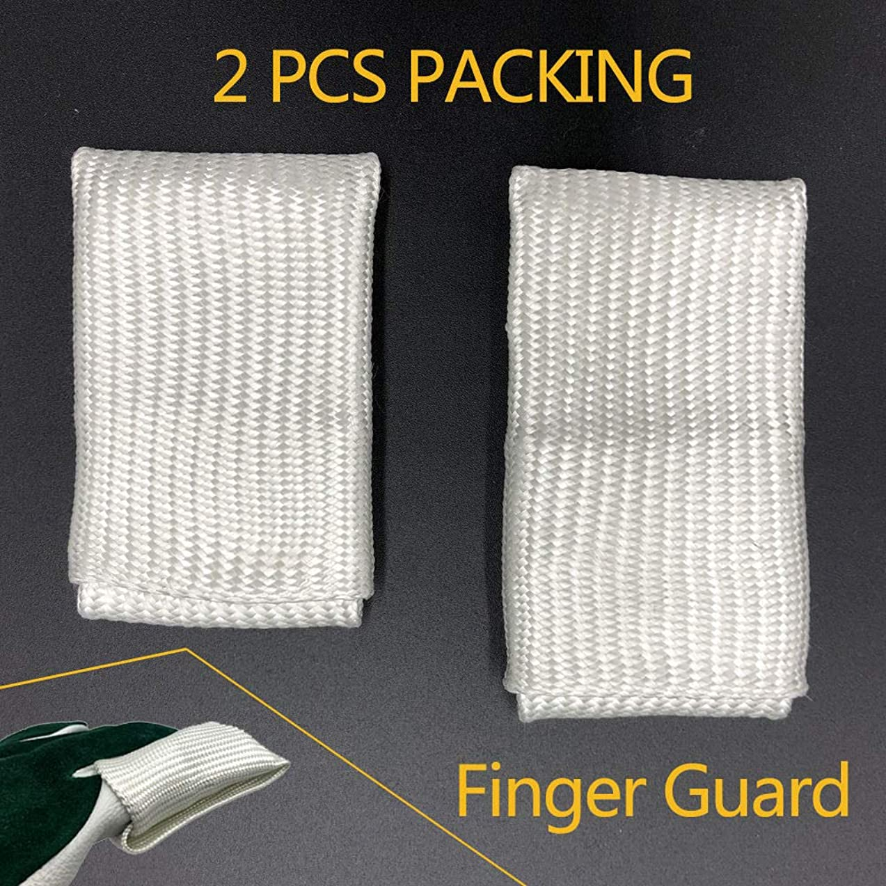 AllyProtect Fiber Glass Welding Tips TIG Finger Heat Shield 2 PCS PACKED (Size L & XL)