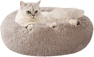 Love's cabin 20in Cat Beds for Indoor Cats - Heated Cat Bed with Machine Washable, Waterproof Bottom - Fluffy Dog and Cat ...