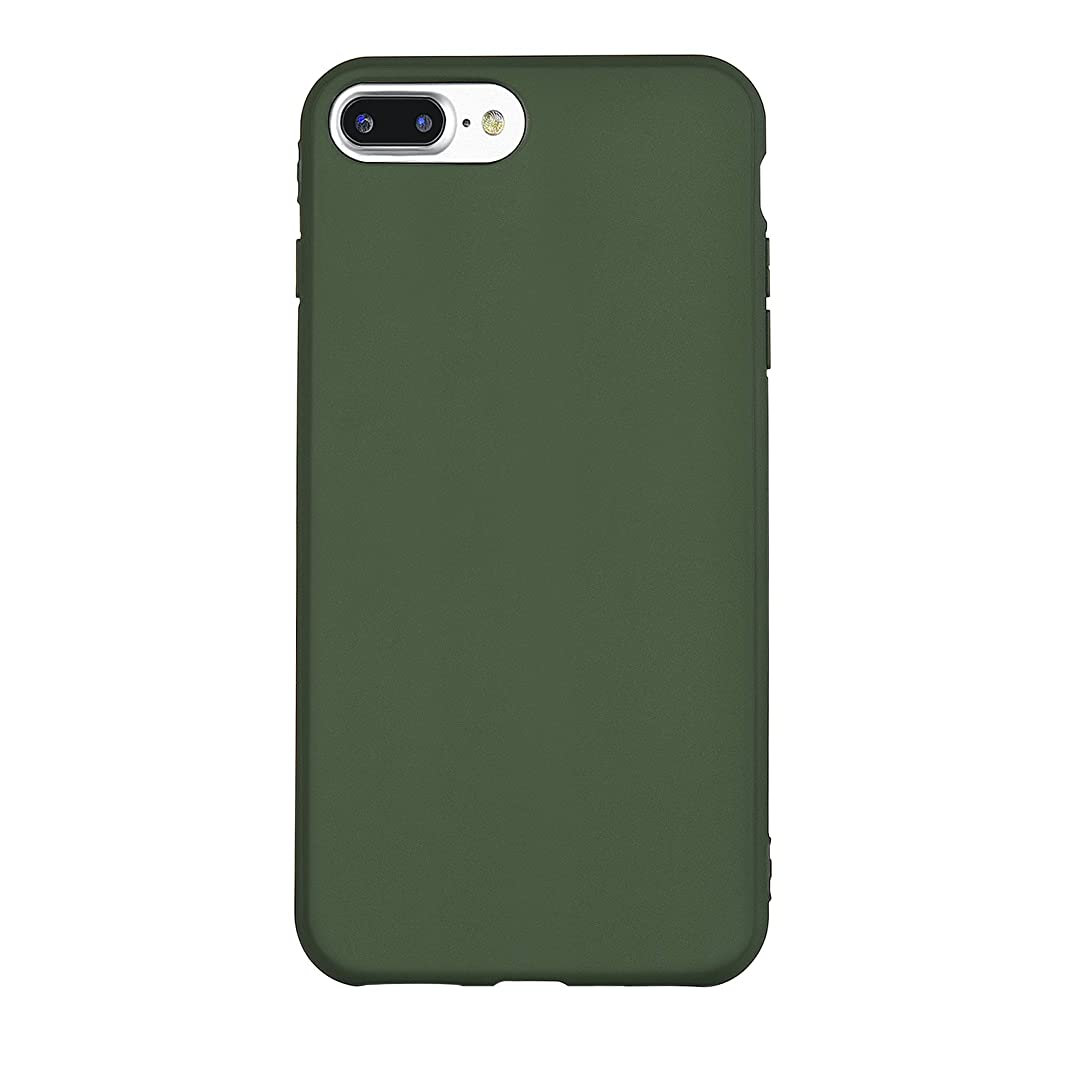 iPhone 7 Plus Case, Manleno iPhone 8 Plus Case Soft Flexible TPU Full Matte Cover Case for iPhone 7 plus/iPhone 8 plus 5.5 inch (Hunter Green) z008719730